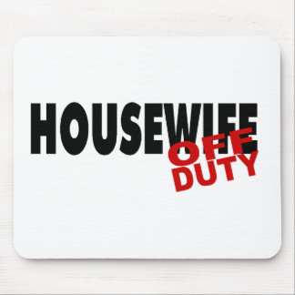 Off Duty Housewife (Blk) Mouse Mat