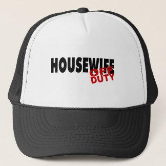 Off Duty Housewife (Blk) Trucker Hat