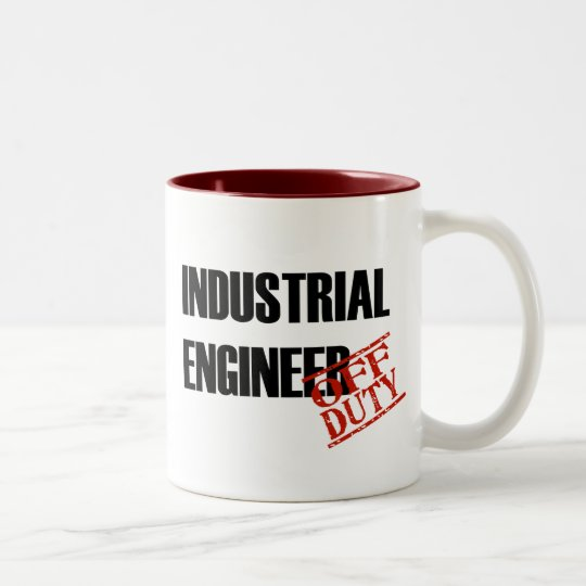OFF DUTY INDUSTRIAL ENGINEER Two-Tone COFFEE MUG