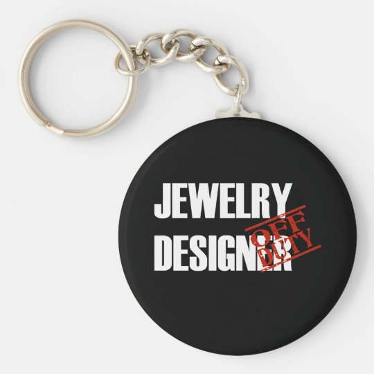OFF DUTY JEWELRY DESIGNER DARK KEYCHAIN