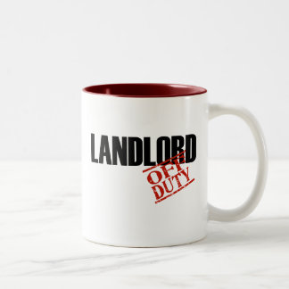 OFF DUTY LANDLORD Two-Tone COFFEE MUG