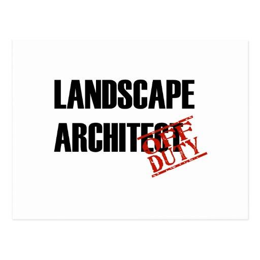 OFF DUTY LANDSCAPE ARCHITECT LIGHT POSTCARD
