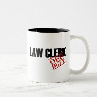 OFF DUTY LAW CLERK Two-Tone COFFEE MUG