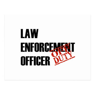 OFF DUTY LAW ENFORCEMENT OFFICER LIGHT POSTCARD