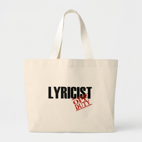 OFF DUTY LYRICIST LIGHT LARGE TOTE BAG