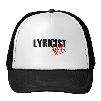 OFF DUTY LYRICIST LIGHT TRUCKER HAT