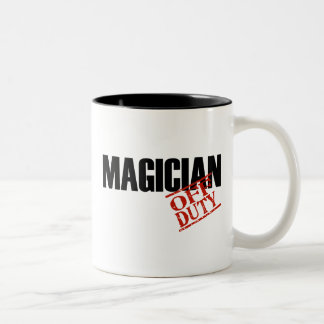OFF DUTY MAGICIAN Two-Tone COFFEE MUG