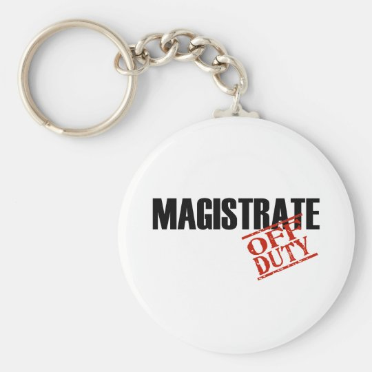 OFF DUTY MAGISTRATE LIGHT KEYCHAIN