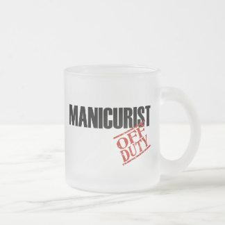 OFF DUTY MANICURIST 10 OZ FROSTED GLASS COFFEE MUG