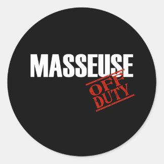 OFF DUTY MASSEUSE DARK STICKER