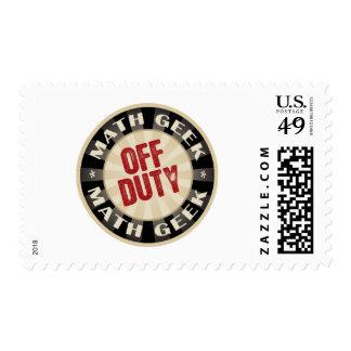 Off Duty Math Geek Postage Stamp