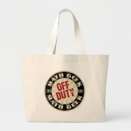 Off Duty Math Geek Tote Bag