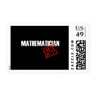OFF DUTY MATHEMATICIAN DARK POSTAGE STAMPS