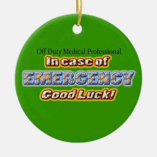 Off Duty Medical Professional Good Luck Ceramic Ornament