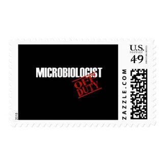 OFF DUTY MICROBIOLOGIST DARK STAMP