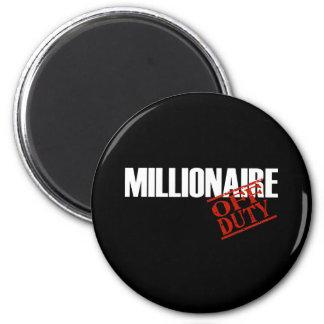 OFF DUTY MILLIONAIRE DARK 2 INCH ROUND MAGNET