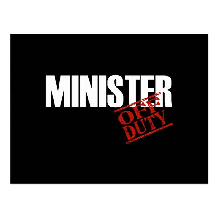 OFF DUTY MINISTER DARK POSTCARD
