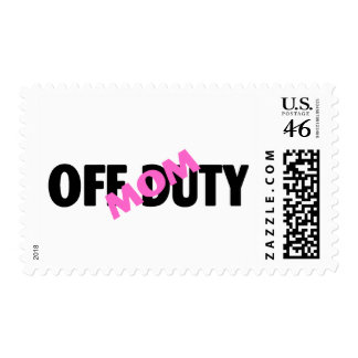 Off Duty Mom Pink Postage Stamps
