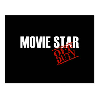 OFF DUTY MOVIE STAR DARK POSTCARD
