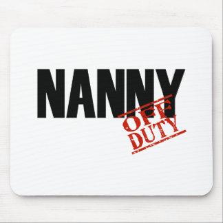 OFF DUTY NANNY LIGHT MOUSE PAD