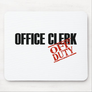 OFF DUTY OFFICE CLERK LIGHT MOUSE PAD
