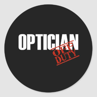 OFF DUTY OPTICIAN DARK CLASSIC ROUND STICKER