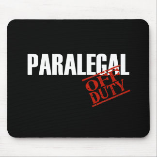 OFF DUTY PARALEGAL DARK MOUSE PAD