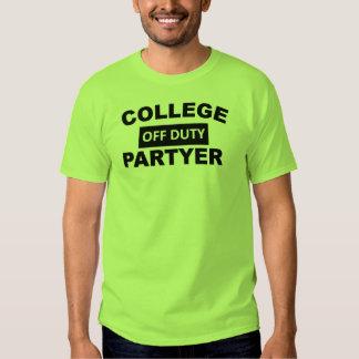 Off Duty Partyer Student T-shirt