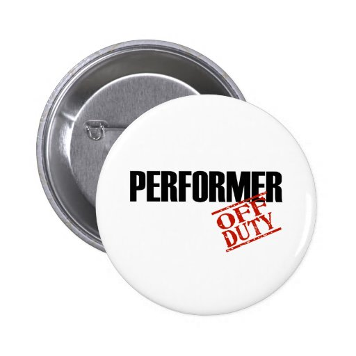 OFF DUTY PERFORMER LIGHT 2 INCH ROUND BUTTON