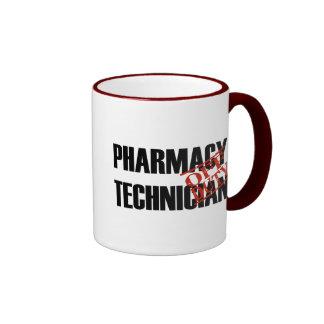 OFF DUTY Pharmacy Technician Ringer Coffee Mug