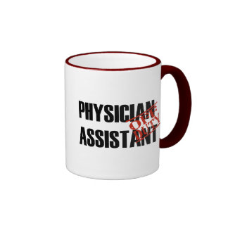 OFF DUTY Physician Assistant Ringer Coffee Mug