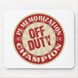 Off Duty Pi Memorization Mouse Pad