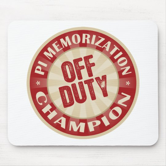 Off Duty Pi Memorization Mouse Pad