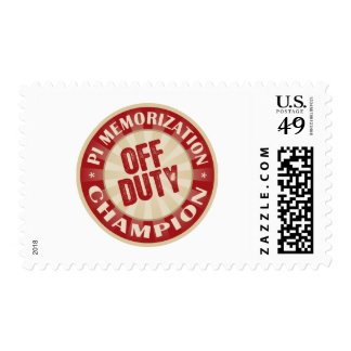 Off Duty Pi Memorization Postage Stamps