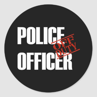 OFF DUTY POLICE OFFICER DARK STICKER