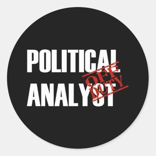 OFF DUTY POLITICAL ANALYST DARK STICKERS