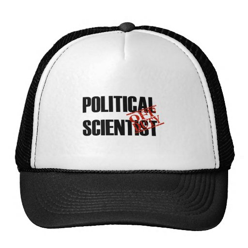 OFF DUTY POLITICAL SCIENTIST LIGHT TRUCKER HAT