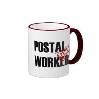 Off Duty Postal Worker Ringer Coffee Mug