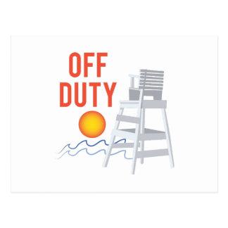 Off Duty Postcard