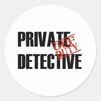 OFF DUTY PRIVATE DETECTIVE LIGHT ROUND STICKER