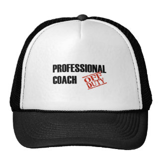 OFF DUTY PROF COACH LIGHT TRUCKER HAT