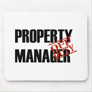 OFF DUTY PROPERTY MGR LIGHT MOUSE PAD