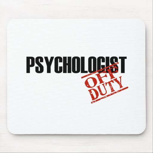 OFF DUTY PSYCHOLOGIST LIGHT MOUSE PAD
