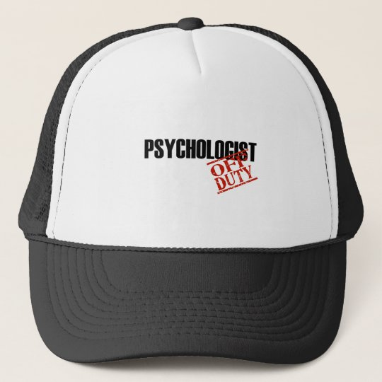 OFF DUTY PSYCHOLOGIST LIGHT TRUCKER HAT