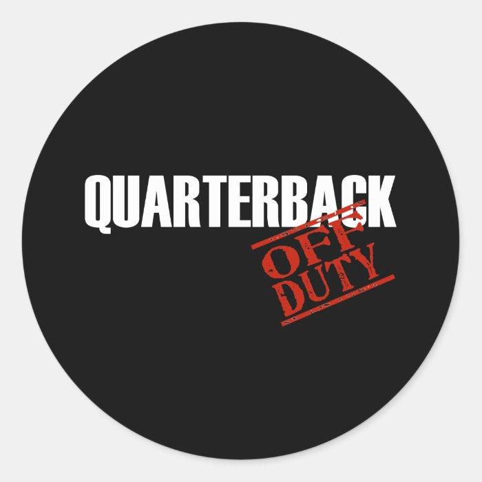 OFF DUTY QUARTERBACK DARK CLASSIC ROUND STICKER