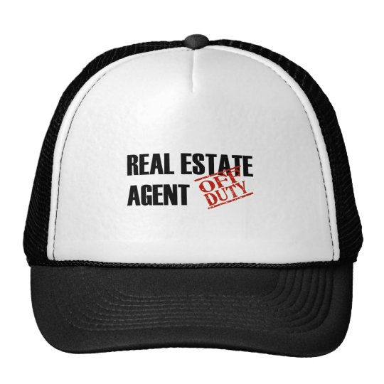 OFF DUTY REAL ESTATE AGENT LIGHT TRUCKER HAT