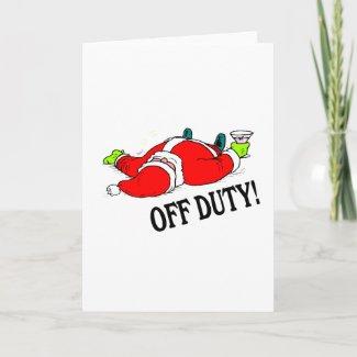 Off Duty Santa (Drunk) card