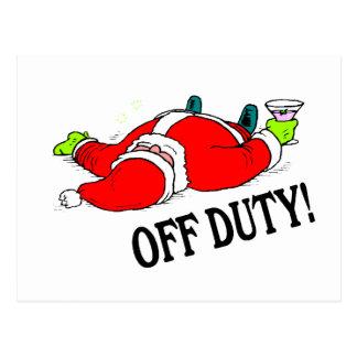 Off Duty Santa (Drunk) Postcard