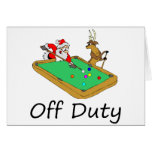 Off Duty Santa (Playing Pool) Greeting Card