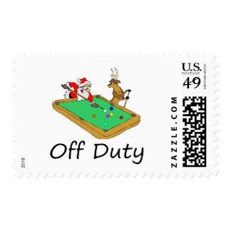 Off Duty Santa (Playing Pool) Stamps